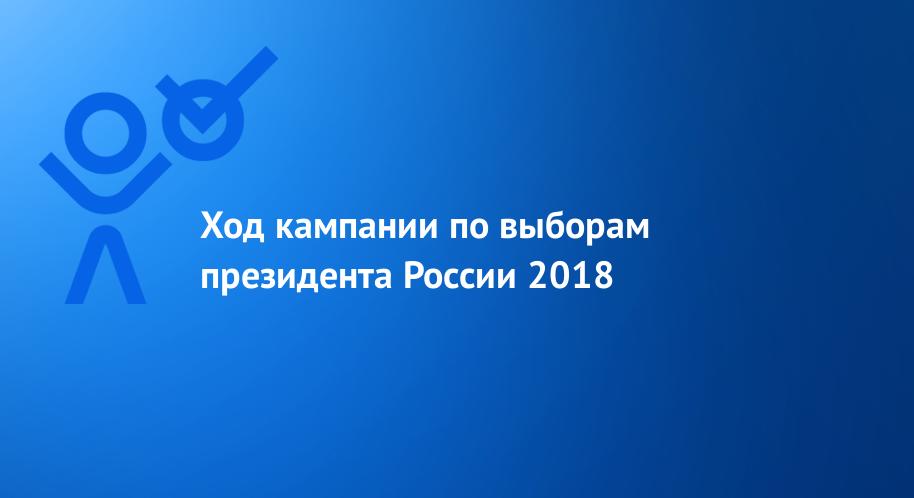 Ход кампании по выборам президента России 2018